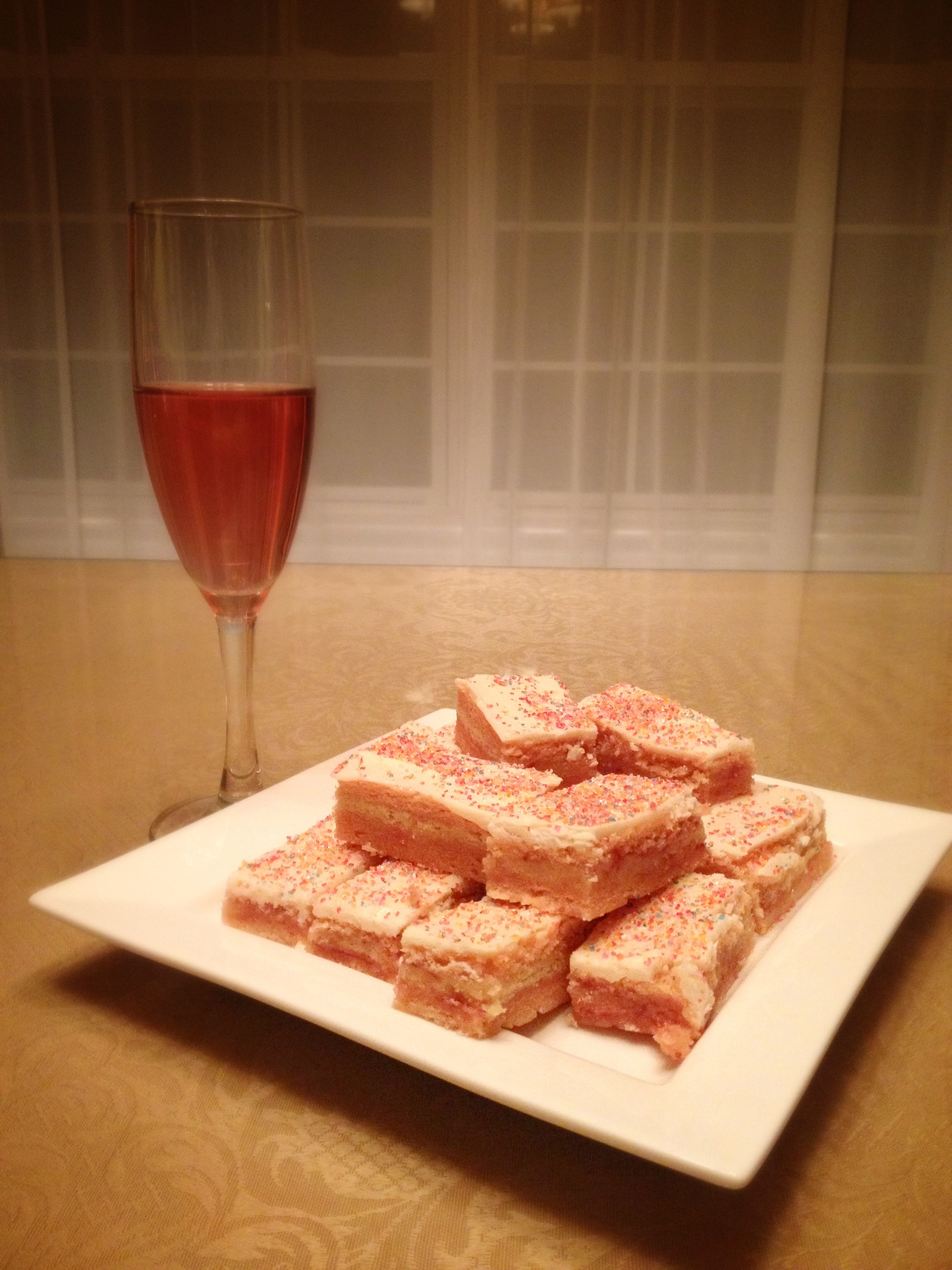 Strawberry Champagne Rainbow Bars 2