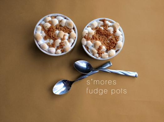 Smores Fudge Pots
