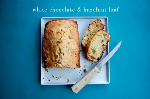 White Chocolate & Hazelnut Loaf
