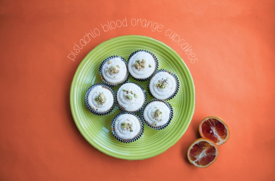 Pistachio Blood Orange Cupcakes